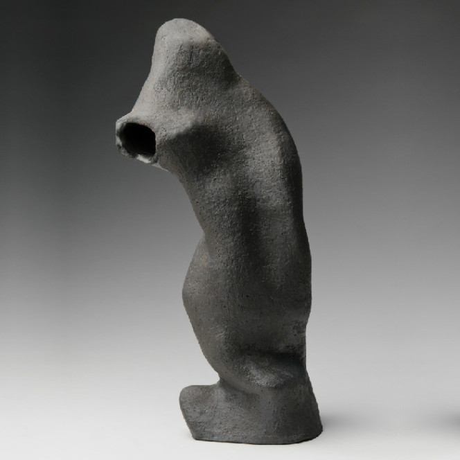 Adagio, 2012, stoneware, 16 x 5 x 6 in.