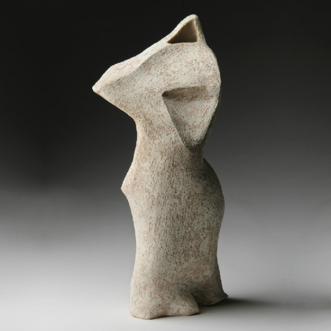 Apollo, 2012, stoneware, 17 x 8 x 8 in.
