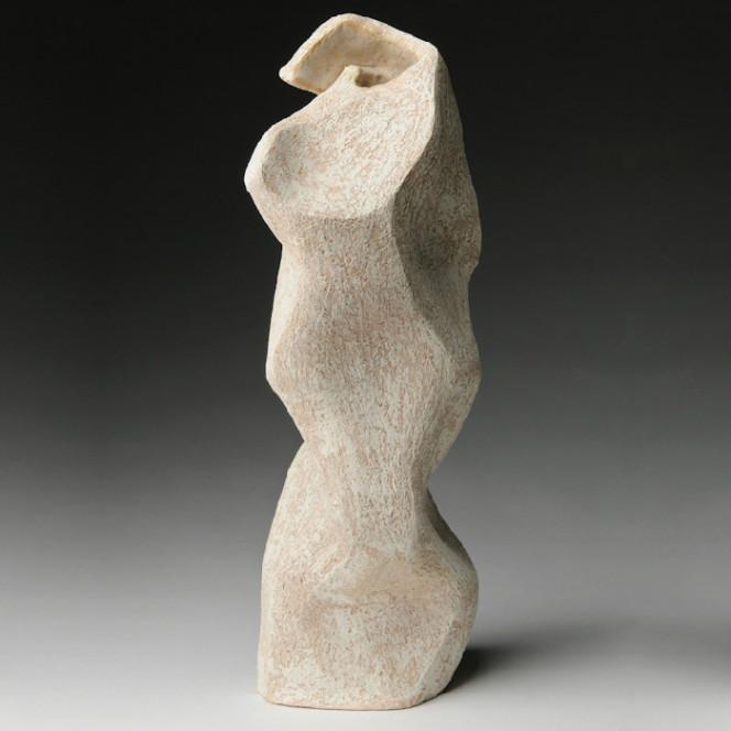 Caliope, 2012, stoneware, 17 x 6 x 6 in.