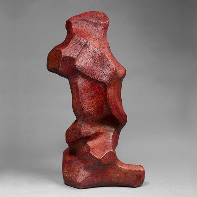 Red 5, stoneware, 14 x 7 x 4 in.
